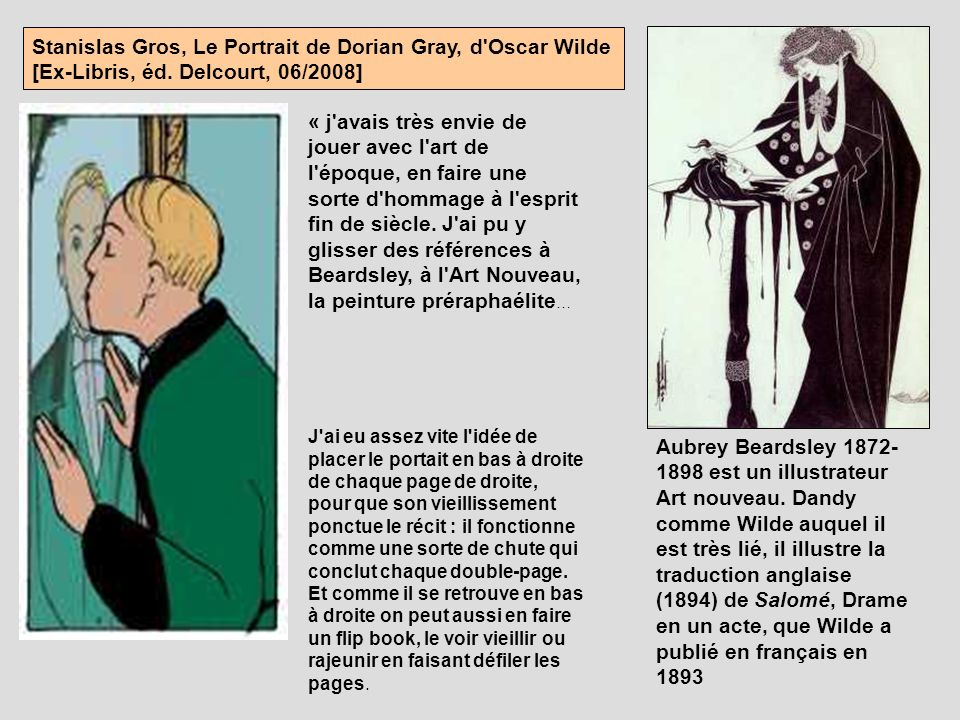 Stanislas Gros, Le Portrait de Dorian Gray, d Oscar Wilde [Ex-Libris, éd. Delcourt, 06/2008]